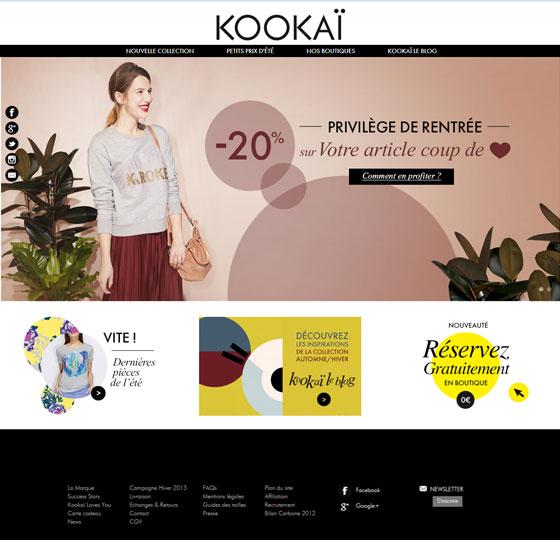 18 grandes marques sous magento : Kookai