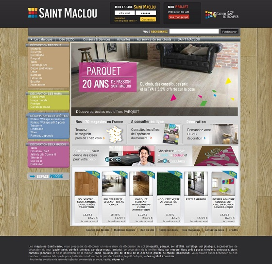 18 grandes marques sous magento : Saint-Maclou