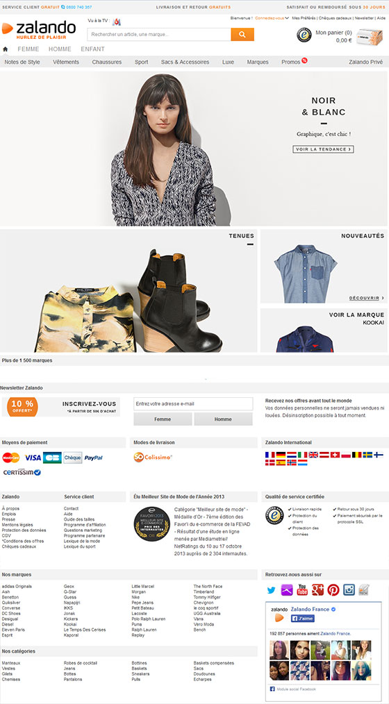 Zalando e-commerce Magento