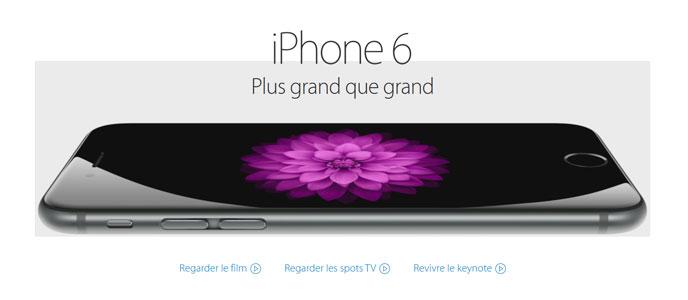 webdesign tendance 2015 iphone6 produit
