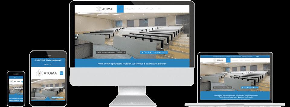 realisation site web atoma